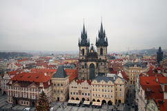 Prague Old Town Square. View from the tower Stock Photo