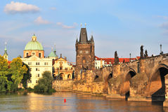 Prague. Old Town at sunset Stock Photography