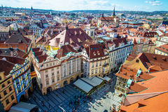 Prague Old town from the top. View of Prague old town from the top Royalty Free Stock Photos
