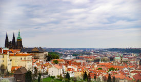 Prague old town. View from high ground Royalty Free Stock Photo