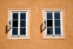 Prague - old windows Royalty Free Stock Photography