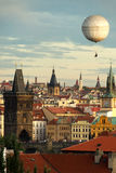 Prague oldtown with balloon Royalty Free Stock Photos