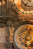 Prague Orloj Astronomical &  Calendar Clock Royalty Free Stock Photography