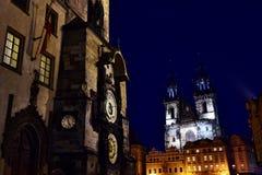 Prague Orloj - Prague den astronomiska klockan Royaltyfri Fotografi