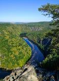 Vltava river view - vyhlídka Máj royalty free stock photos