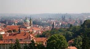 Prague - outlook over the town Stock Photos