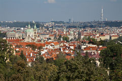 Prague - outlook from Petrin hill Royalty Free Stock Images