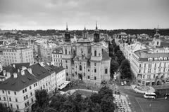 Prague. Overlook for city center of Prague Stock Images
