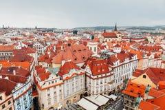 Prague. Overlook for city center of Prague Stock Photos