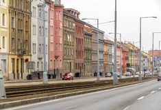 Prague på vintertid Arkivbild