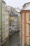 Prague på vintertid Royaltyfria Bilder