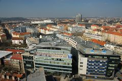 Prague Pankrác - view from the roof of the high-rise building of Centrotex royalty free stock photography