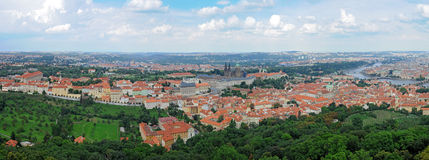 Prague - Panorama. Panoramic picture of Prague from the Petrin View Tower Stock Photos