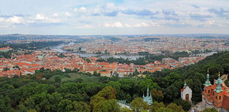 Prague - Panorama. Panoramic picture of Prague from the Petrin View Tower royalty free stock images