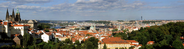 Prague panorama Stock Photography