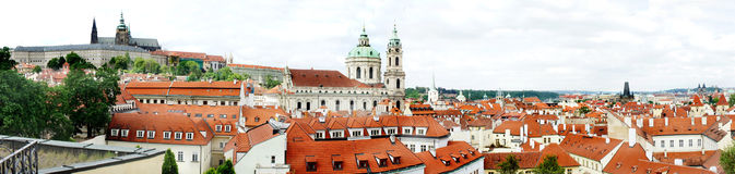 Prague panorama Arkivbilder