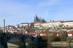 Prague panorama Fotografering för Bildbyråer