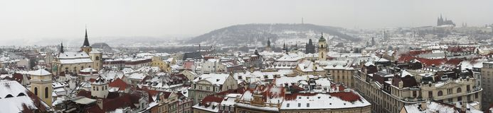 Prague panorama. Made from several exposures Royalty Free Stock Photo