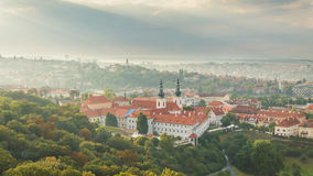 Prague, panorama of the city from Petrin lookout tower. Stock Image