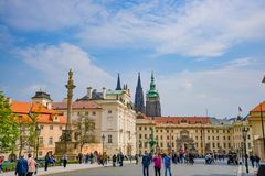 Old Prague in summer, Czech Republic, beautiful view royalty free stock photo