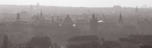 Free Prague - Panorama Of The Town From Castle In The Backlight Royalty Free Stock Images - 134930769