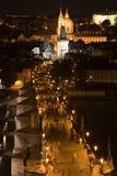 Prague panorama over Charles bridge royalty free stock photo