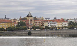 Prague Panorama over Vltava river in Czech Republic Royalty Free Stock Images