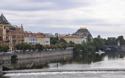 Prague Panorama over Vltava river in Czech Republic Royalty Free Stock Photo