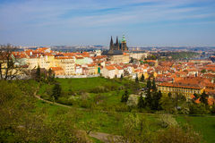 Prague panorama with St. Vitus Cathedral Royalty Free Stock Photography