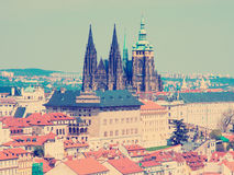 Prague panorama with St. Vitus Cathedral Royalty Free Stock Image