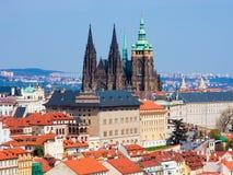 Prague panorama with St. Vitus Cathedral Stock Photo