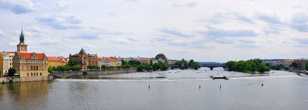 Prague panorama, Tjeckien Royaltyfri Bild
