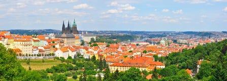 Prague panorama, Tjeckien Arkivbild