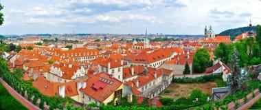 Prague panorama, Tjeckien Arkivbilder