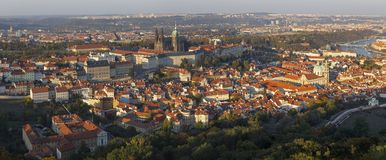 Prague - The panorama of the Town from Petrin stock photography