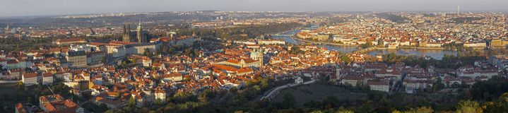 Prague - The panorama of the Town from Petrin royalty free stock photos
