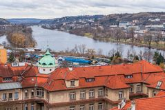 Prague panorama view from Vysehrad Royalty Free Stock Image