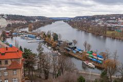 Prague panorama view from Vysehrad Stock Photo