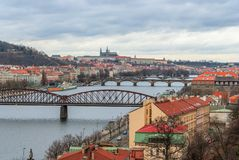 Prague panorama view from Vysehrad Stock Photos