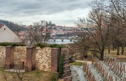 Prague panorama view from Vysehrad Royalty Free Stock Photos