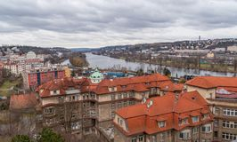 Prague panorama view from Vysehrad Royalty Free Stock Photography