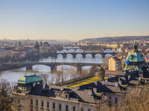 Prague panorama with Vltava river. Czech Republic Royalty Free Stock Images