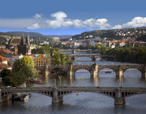 Prague - panoramic Stock Photo