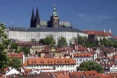 Prague - Panoramic with Hradcany Stock Image