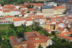 Prague - Panoramic with Hradcany and Lesser Town Royalty Free Stock Photo