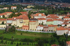 Prague - Panoramic with Hradcany and Lesser Town royalty free stock photography