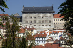 Prague - Panoramic with Uvoz Street Stock Photo