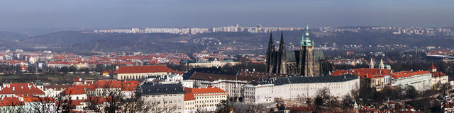 Prague. Panoramic view. From the tower Stock Images