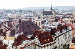 Prague panoramic view of cityscape , Czech Republic, Europe Stock Image
