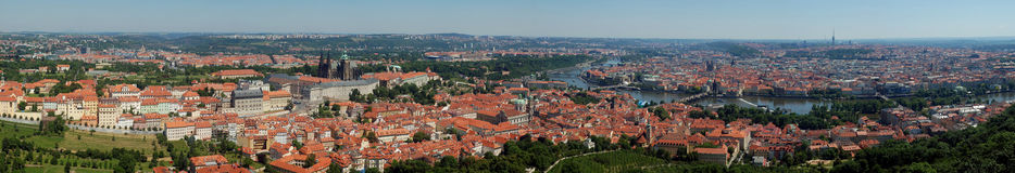 Prague, Panoramic view Stock Images